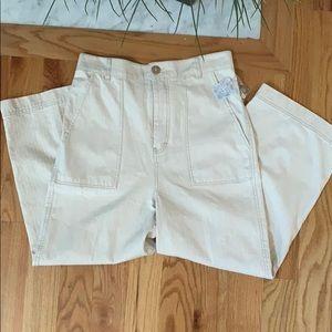 🌟 Free People Wide Leg Ribcage Pants, US 10🌟